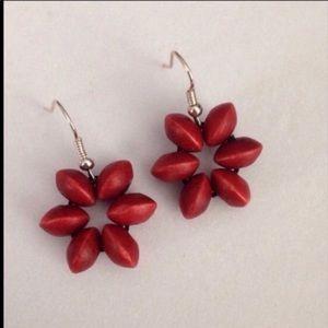 Nwot Premier Designs wood earrings